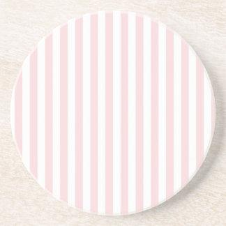 Rayas finas - blancas y pálidas - rosa posavasos de arenisca