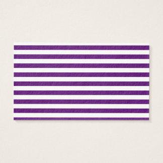Rayas finas - blancas y violeta oscura tarjeta de negocios