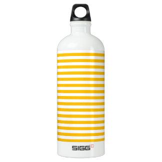 Rayas finas - blanco y ámbar botella de agua