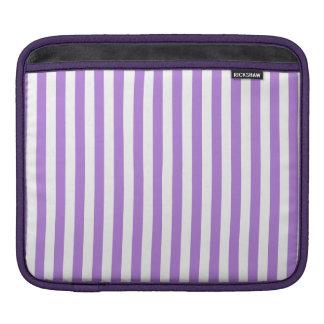 Rayas finas - blanco y lavanda funda para iPad