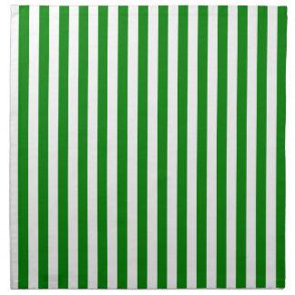 Rayas finas - blanco y verde servilleta de tela