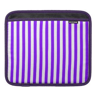 Rayas finas - blanco y violeta funda para iPad