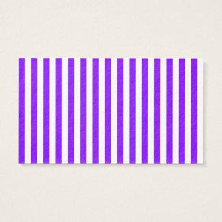 Rayas finas - blanco y violeta tarjeta de negocios