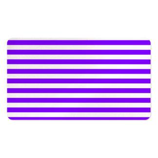 Rayas finas - blanco y violeta tarjetas de visita