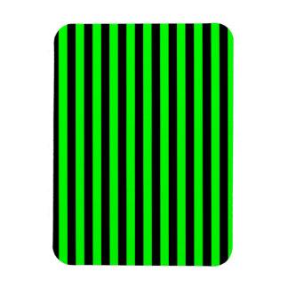 Rayas finas - negras y verde eléctrico iman