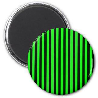 Rayas finas - negras y verde eléctrico imán