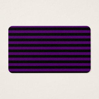 Rayas finas - negras y violeta oscura tarjeta de negocios