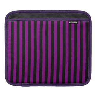 Rayas finas - negro y púrpura funda para iPad