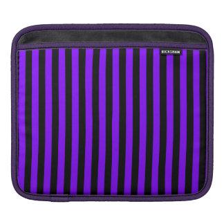 Rayas finas - negro y violeta funda para iPad