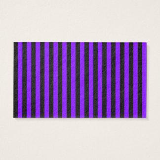 Rayas finas - negro y violeta tarjeta de negocios