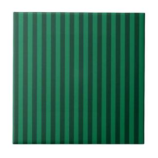 rayas finas verdes y verde oscuro azulejo cuadrado pequeo