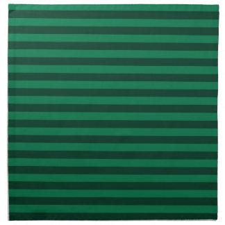 Rayas finas - verdes y verde oscuro servilleta de tela
