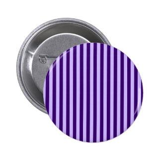 Rayas finas - violadas claras y violeta oscura chapa redonda de 5 cm