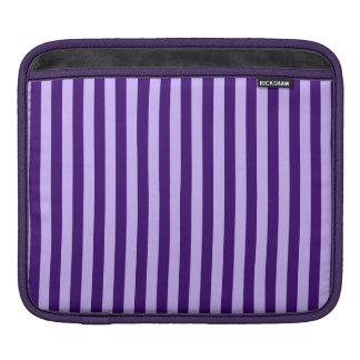 Rayas finas - violadas claras y violeta oscura funda para iPad