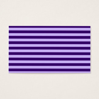 Rayas finas - violadas claras y violeta oscura tarjeta de negocios