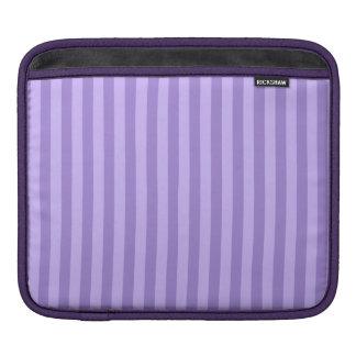 Rayas finas - violetas y violadas claras funda para iPad