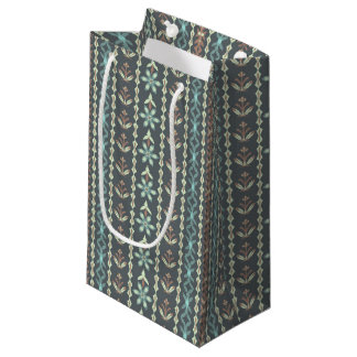 Rayas florales - bolso del regalo bolsa de regalo pequeña