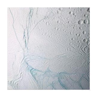 Rayas frescas del tigre en Enceladus Lienzo