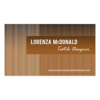 Rayas heladas - diseño de la tela del diseñador de tarjetas de visita