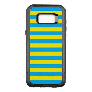 Rayas horizontales azules y amarillas funda commuter de OtterBox para samsung galaxy s8+