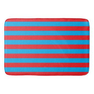 Rayas horizontales azules y rojas
