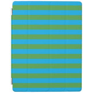 Rayas horizontales azules y verdes cover de iPad