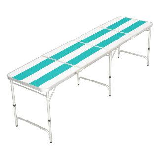 Rayas horizontales de la aguamarina mesa de pong