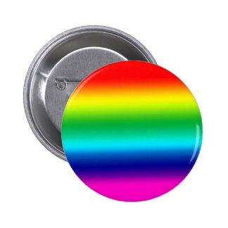 Rayas horizontales del botón del arco iris pin
