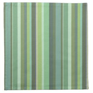 Rayas horizontales del verde verde oliva servilleta de tela
