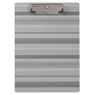 Rayas horizontales grises carpeta de pinza