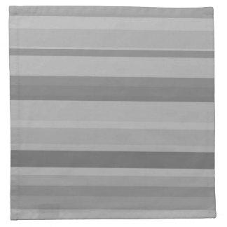 Rayas horizontales grises servilleta de tela