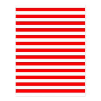 Postales rayas rojas y blancas tarjetas postales - Rayas horizontales ...