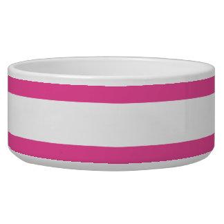 Rayas horizontales rosadas comedero para mascota