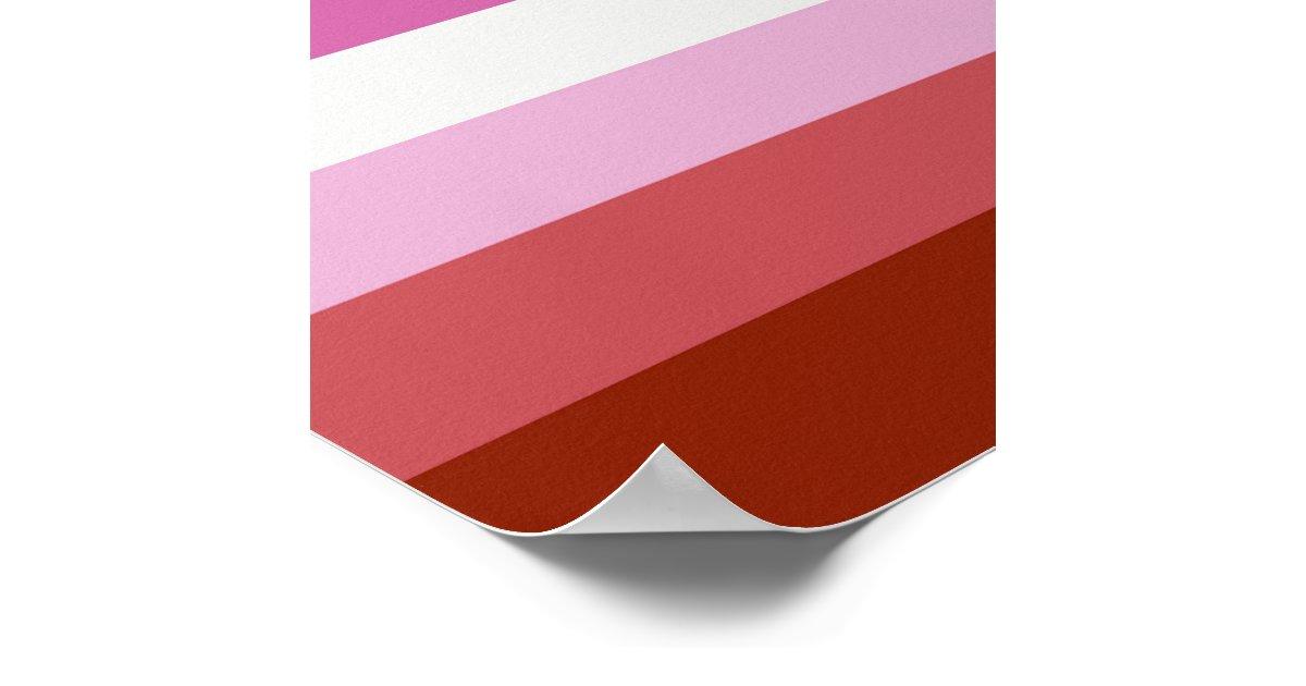 Rayas lesbianas del orgullo p ster zazzle for Lesbianas en la oficina