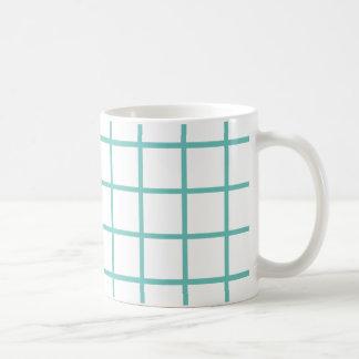 Rayas ligeras grandes del enrejado del trullo taza de café