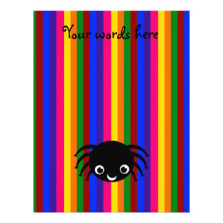Rayas lindas del arco iris de la araña flyer a todo color