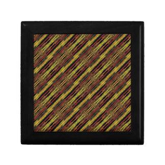 rayas, marrón y amarillo del safari cajas de joyas