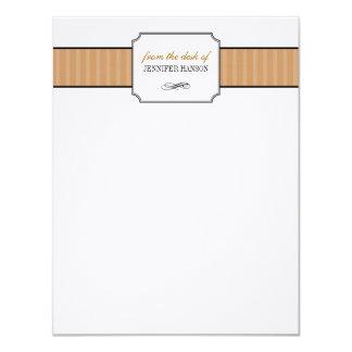 Rayas marrones clásicas del escritorio de los invitación 10,8 x 13,9 cm