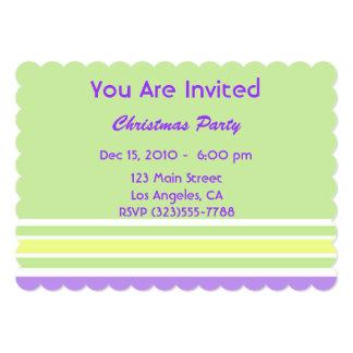 Rayas modernas del navidad invitación 12,7 x 17,8 cm