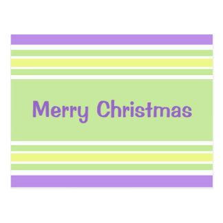 Rayas modernas del navidad postales