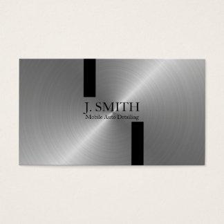 Rayas negras en el detalle auto de plata tarjeta de visita