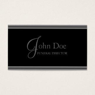 Rayas negras/grises del director de funeraria tarjeta de negocios