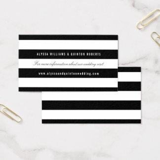 Rayas negras intrépidas que casan el parte movible tarjeta de visita