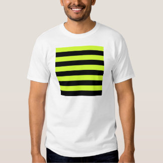 Rayas - negras y amarillo fluorescente camisetas