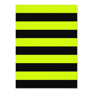 Rayas - negras y amarillo fluorescente comunicado personalizado