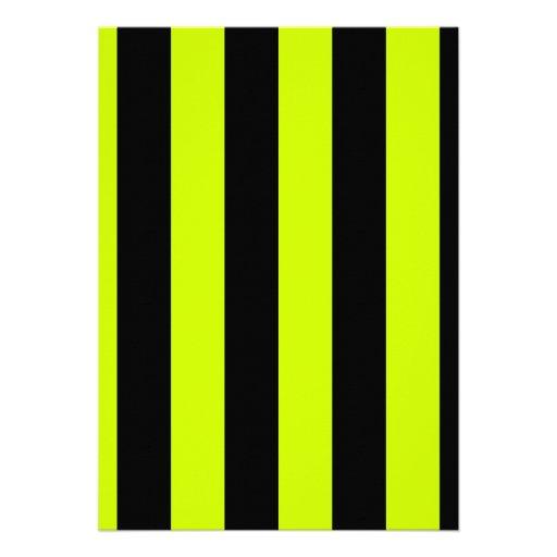 Rayas - negras y amarillo fluorescente anuncios