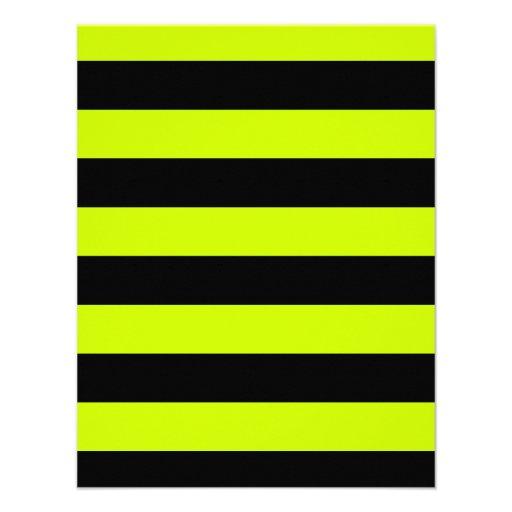 Rayas - negras y amarillo fluorescente comunicados personales