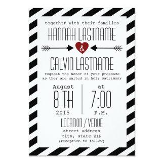 Compra tus invitaciones de boda con diseños de color blanco y negro en la gran selección de Zazzle.