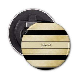 Rayas negras y falsas elegantes del oro abrebotellas