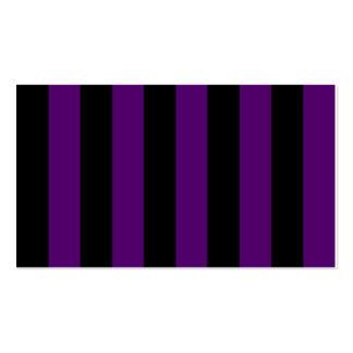 Rayas - negras y violeta oscura tarjeta de negocio